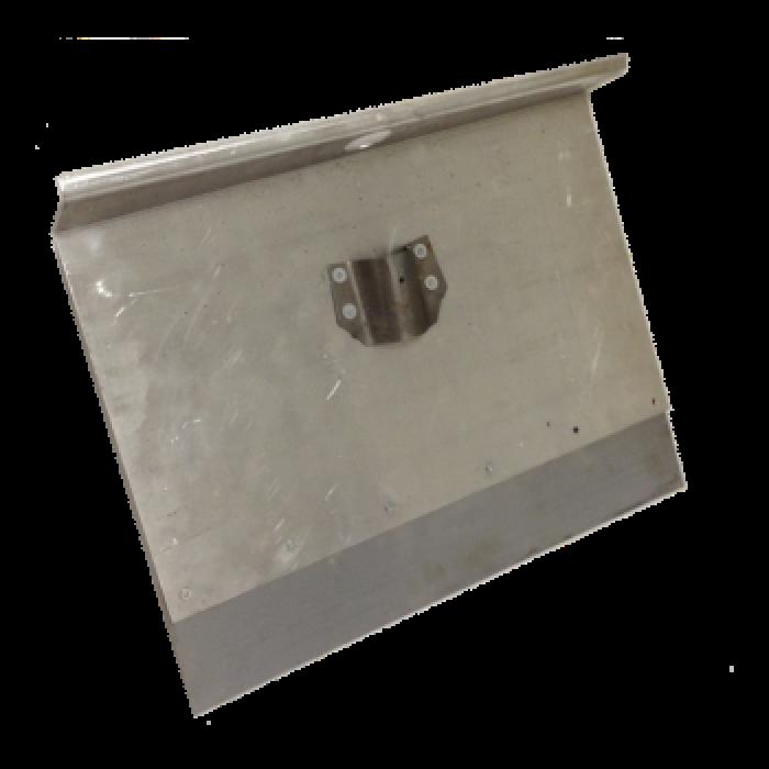 Движок однобортный алюминиевый с накладкой