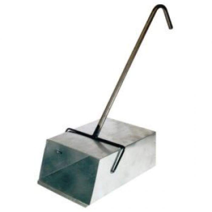 Совок-ловушка оцинкованный с Г-обр. металлической ручкой 'Люкс'