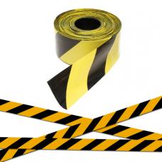 Лента оградительная ЛО-250 (черно-желтая) 75мм