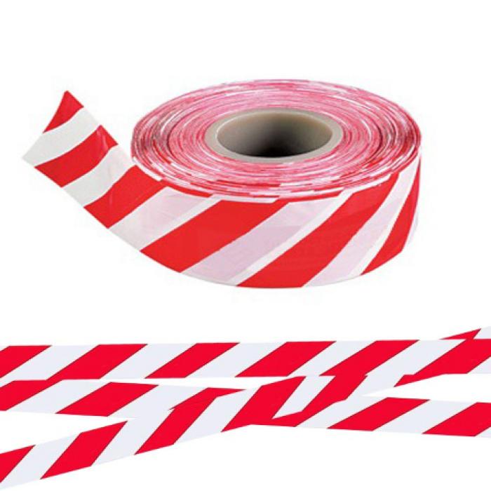 Лента оградительная ЛО-250 (красно-белая) 75мм