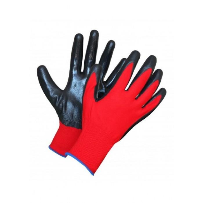 Перчатки нейлоновые с нитриловые покрытием