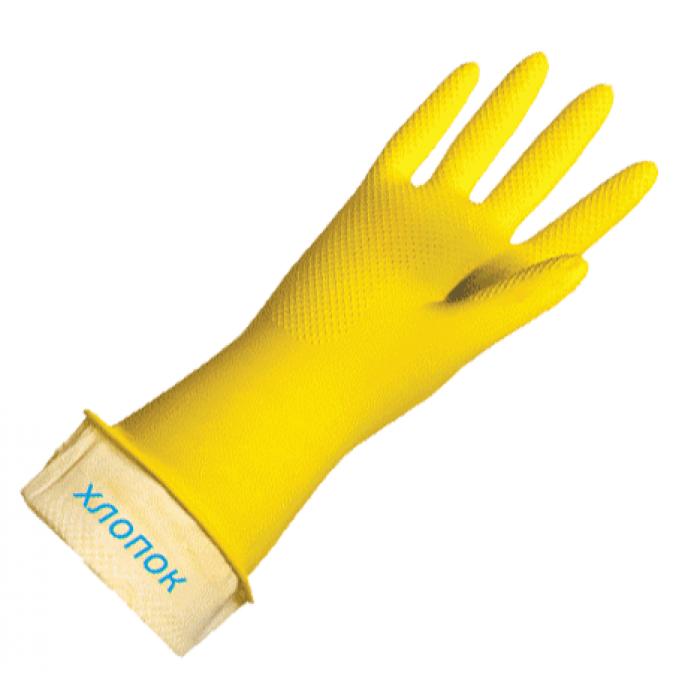 Перчатки хозяйственные с хлопковым напылением